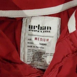 urban pipeline Shirts & Tops - Urban Pipeline burgandy Polo Boy's med